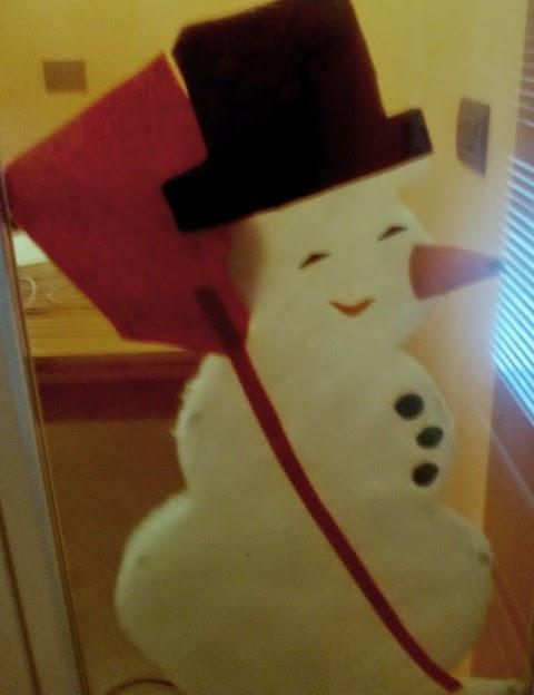 Decorazione di Natale per finestre: pupazzo di neve