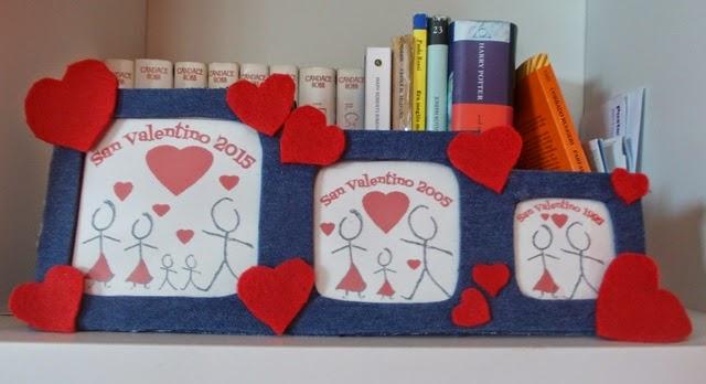 Handmade Valentine: portafoto realizzato con materiale di riciclo