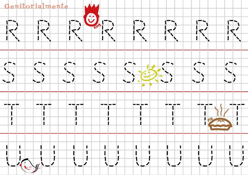 Pregrafismo Prescrittura Imparare Alfabeto Genitorialmente