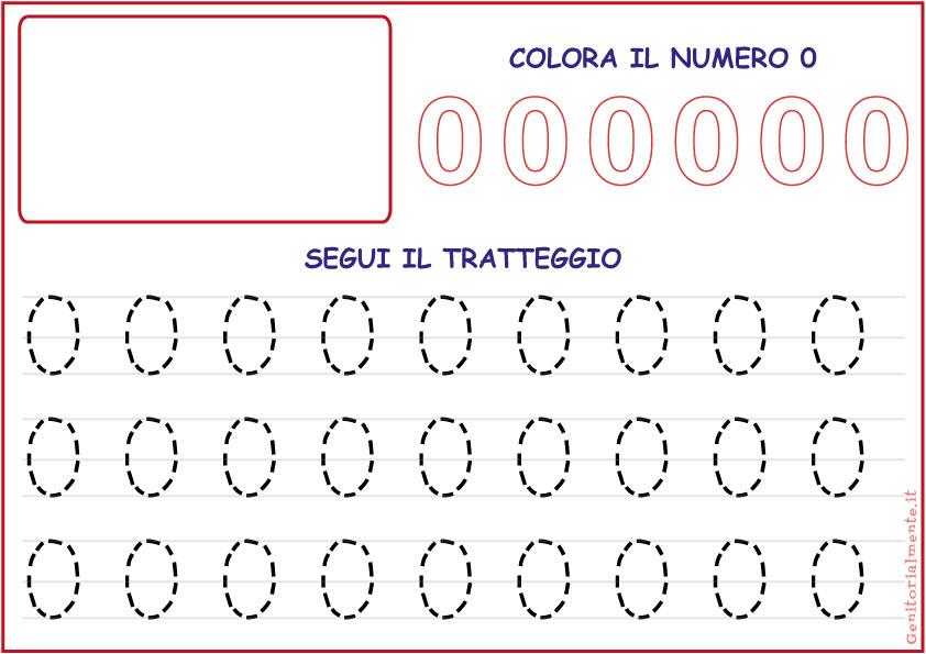 Amato Schede didattiche pregrafismo con i numeri | Genitorialmente PW88