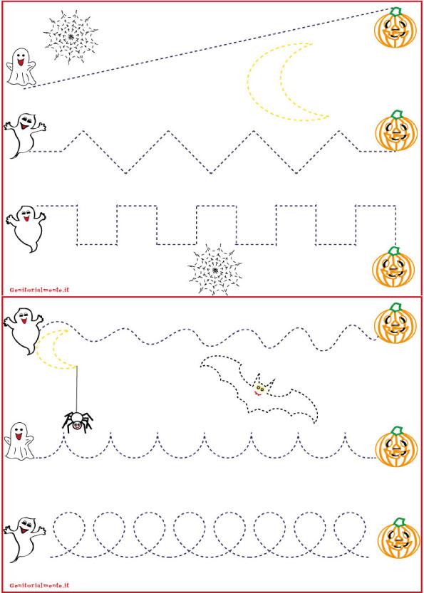 Schede pregrafismo percorsi: linee rette e curve