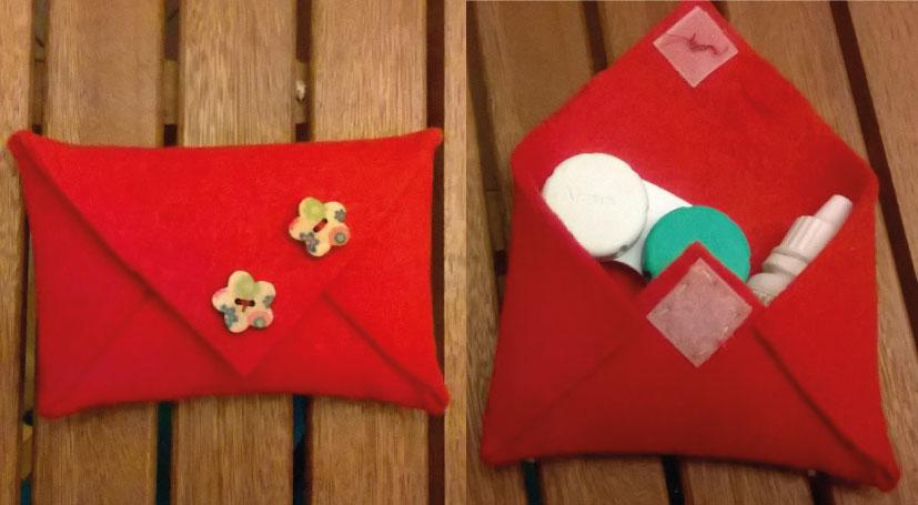 Pochette da borsetta fai da te: idea regalo