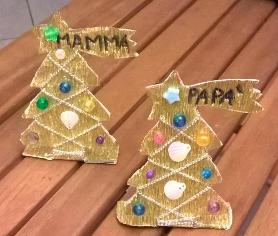 Lavoretti di Natale per bambini: segnaposti natalizi