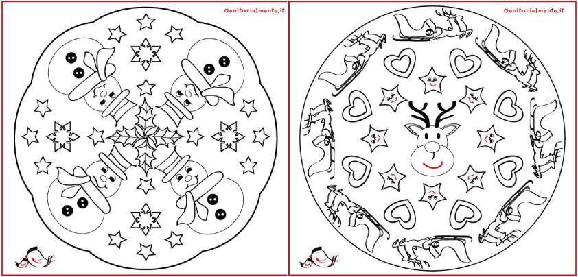 Mandala natalizi da scaricare e colorare