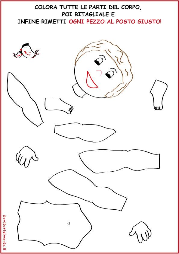 spesso Come insegnare le parti del corpo umano | Genitorialmente CB44