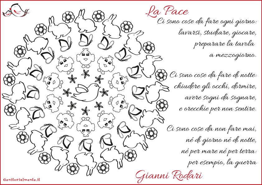 Filastrocca di Pasqua con Mandala da scaricare | Genitorialmente