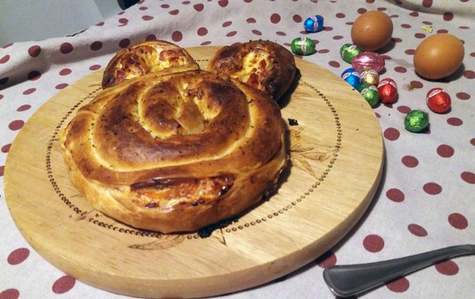 Idea per il menù di Pasqua: torta salata coniglietto