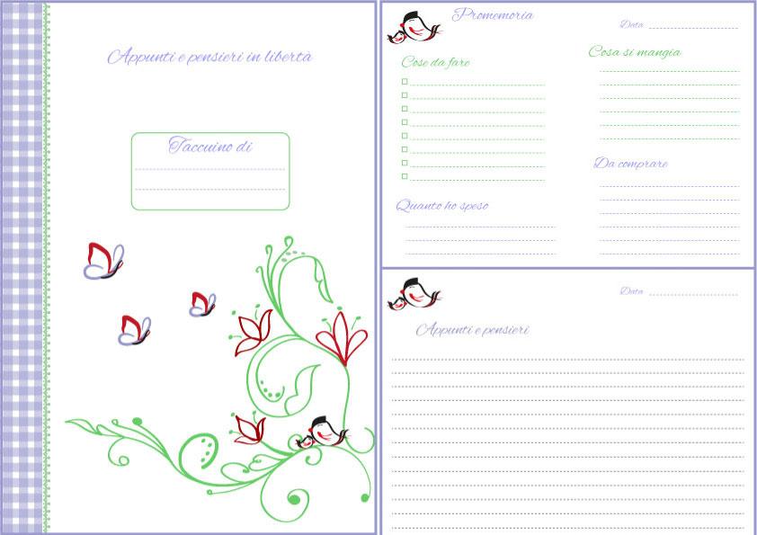 Agenda da scaricare gratis: appunti e promemoria