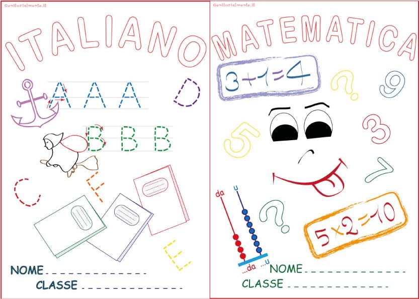Preferenza Copertine per quaderni da scaricare: matematica e italiano  JB02