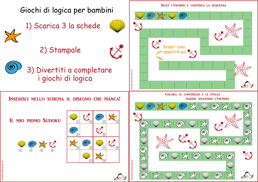 Fabuleux Giochi di logica per bambini da stampare | Genitorialmente QU75
