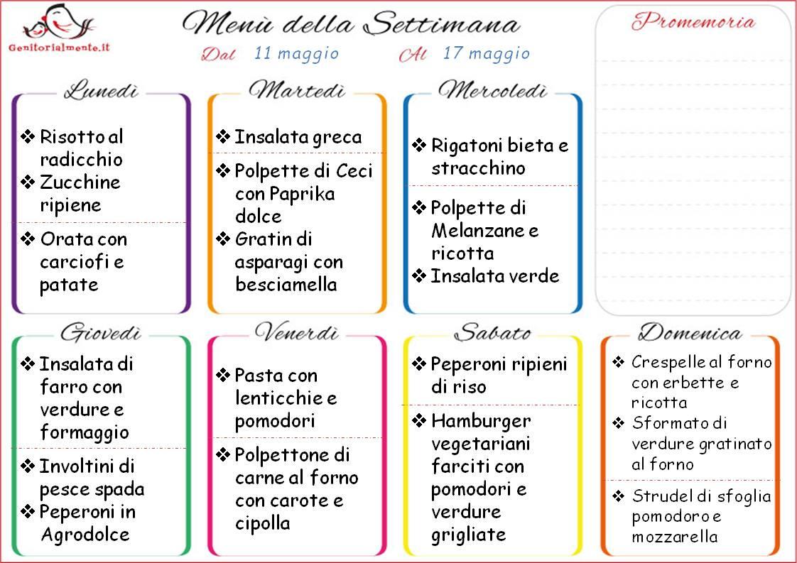 Organizzare Il Menu Della Settimana by manu & flavia