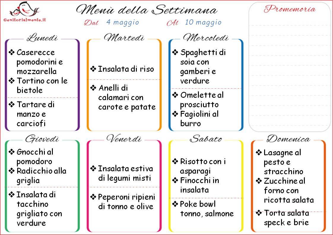 Menu Settimanale Sano Ed Economico by manu & flavia