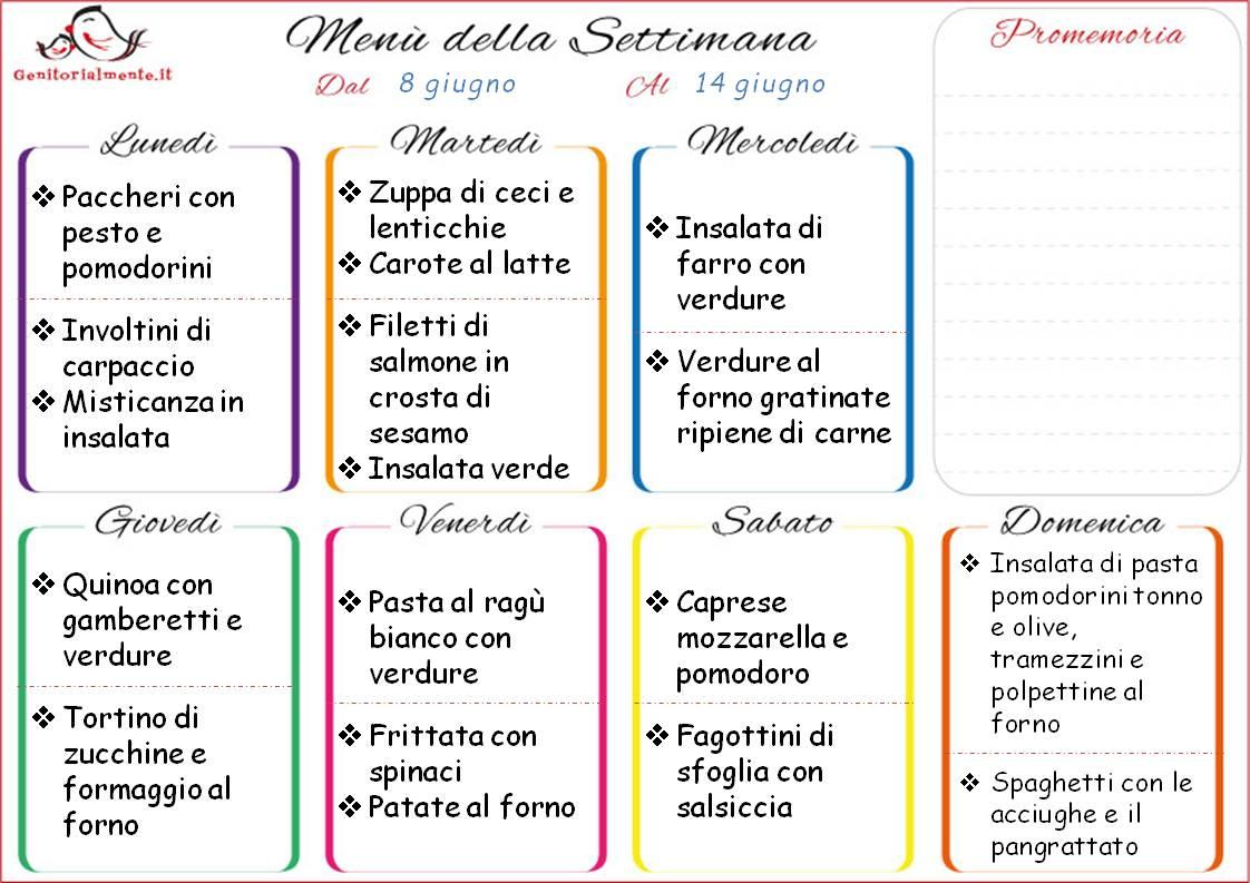 Menu Settimanale Sano Ed Economico by manu & flavia — menù settimanale dal 4 febbraio al 10